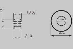 Plastic Dowel & Screw Ring